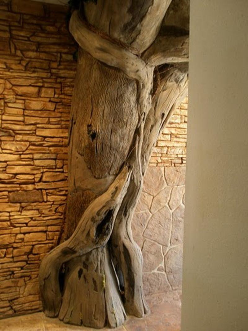 Дерево из камня на стене картинки какие еще